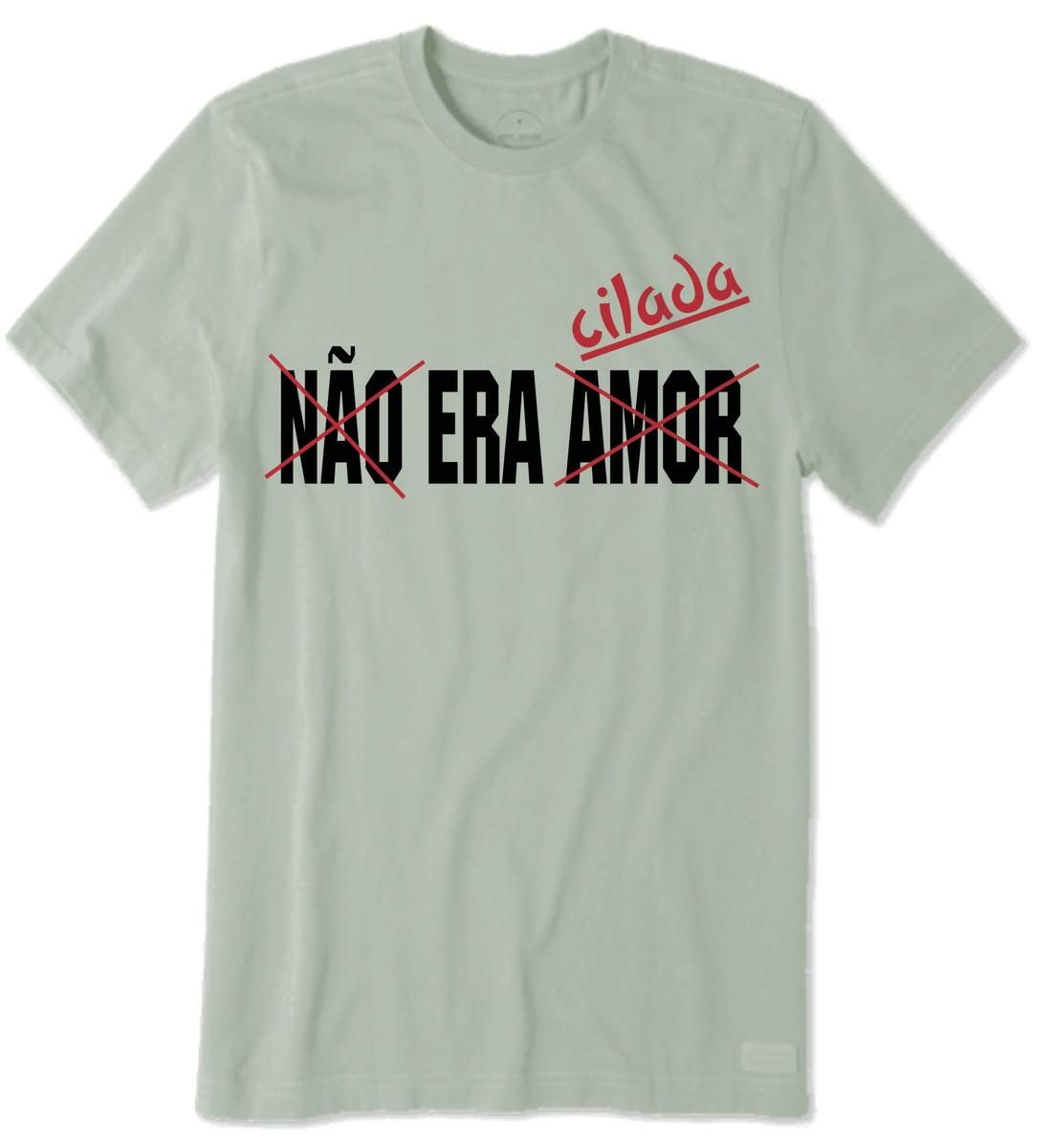 Camiseta De Frases Engraçadas Não Era Amor Era Cilada