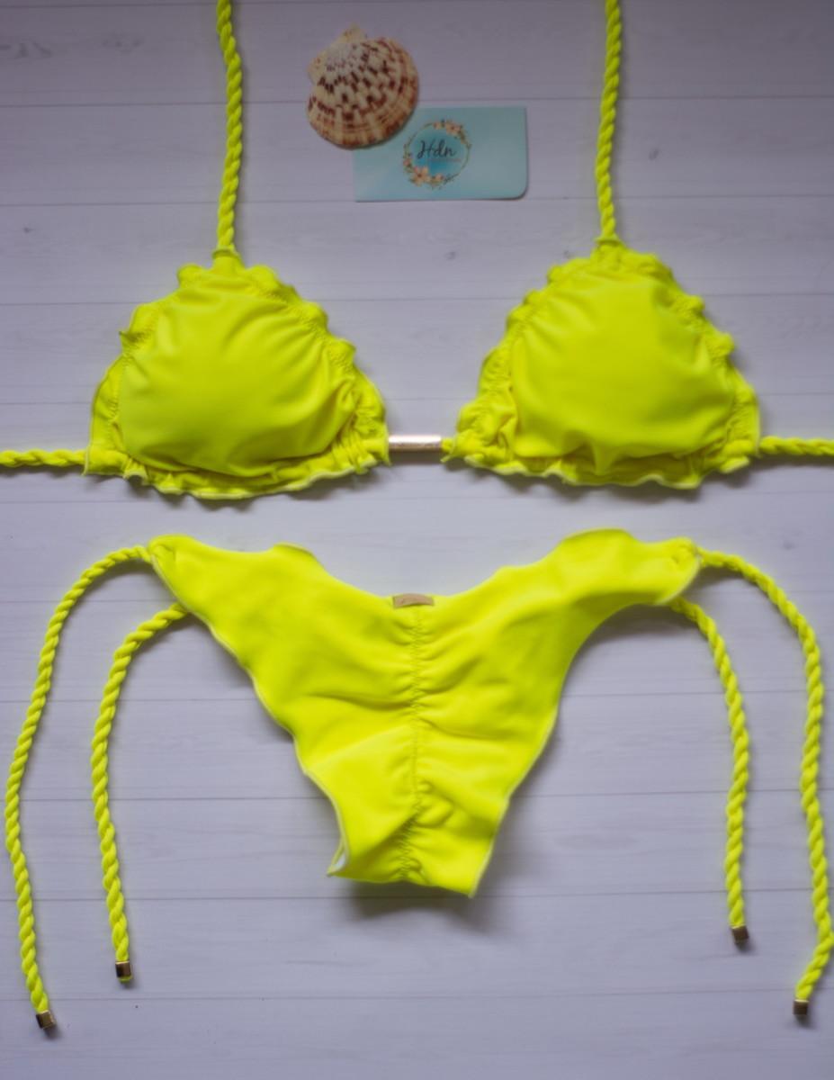 1d35ecab3c5f Biquíni Amarelo Neon - Alça trancinha no Elo7 | HDN Moda Praia (EA4406)