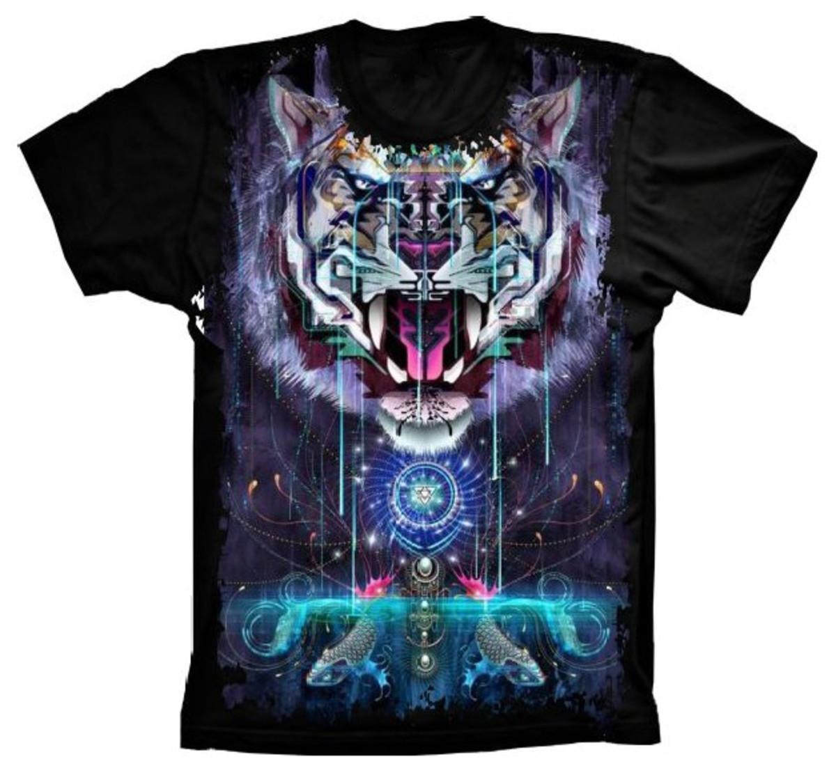 165b89881d0f2 Camiseta Tigre no Elo7 | Estampas Criativas (EA4691)
