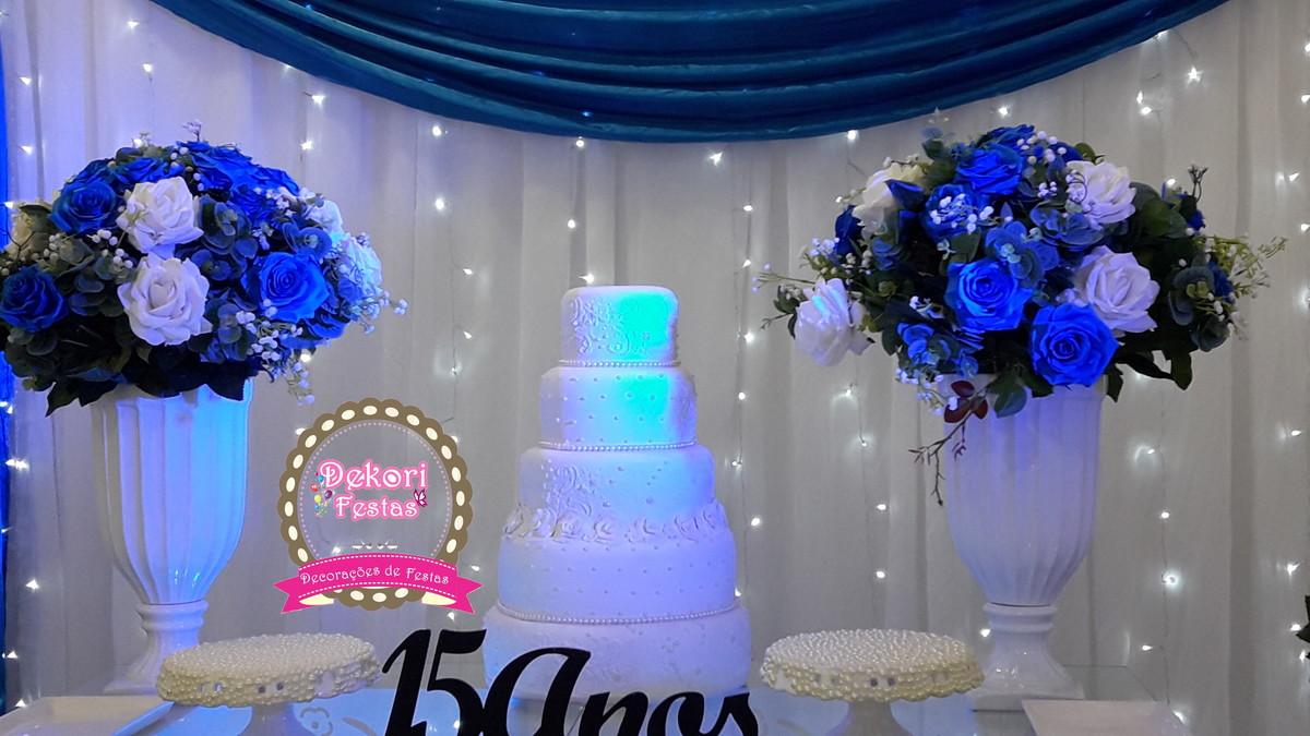 Decoracoes Para Festas 15 Anos: Decoração Festa De 15 Anos Azul Roray No Elo7