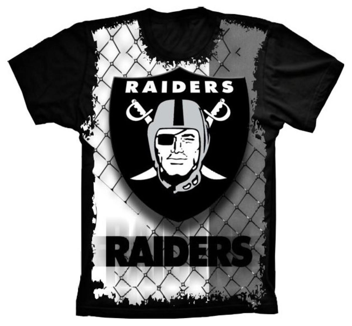 aceae4e5a401a Camiseta Oakland Raiders no Elo7