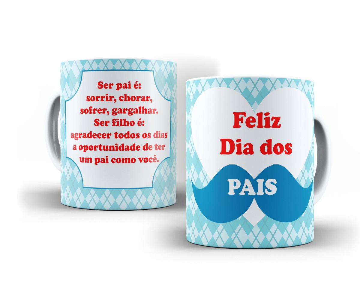 Caneca Porcelana Feliz Dia Dos Pais Com Frase