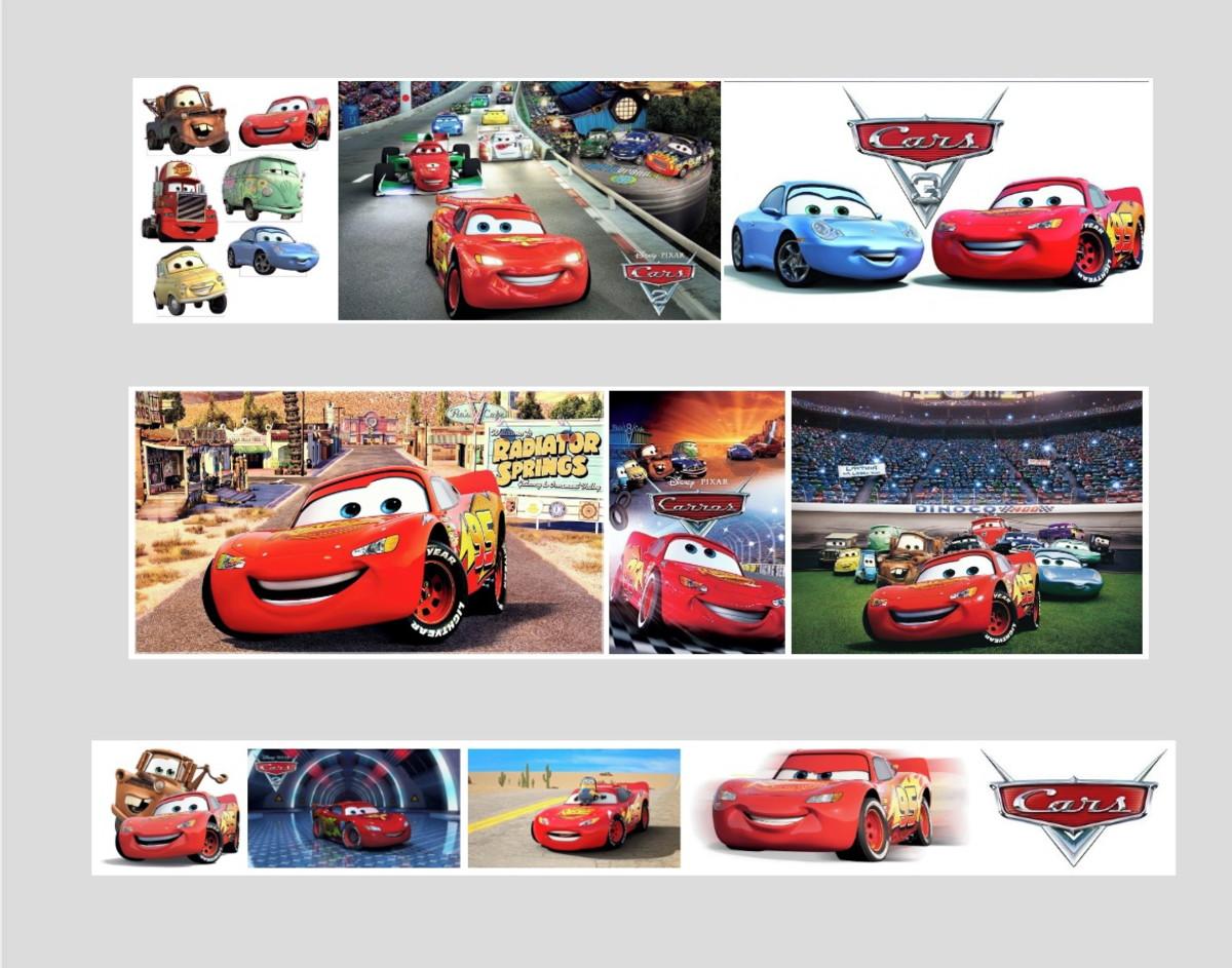 Quadro Disney Carros Mcqueen Pixar Caminhao Corrida Desenho No