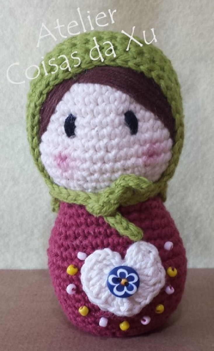 Matrioska amigurumi (crochê) - YouTube | 1200x733