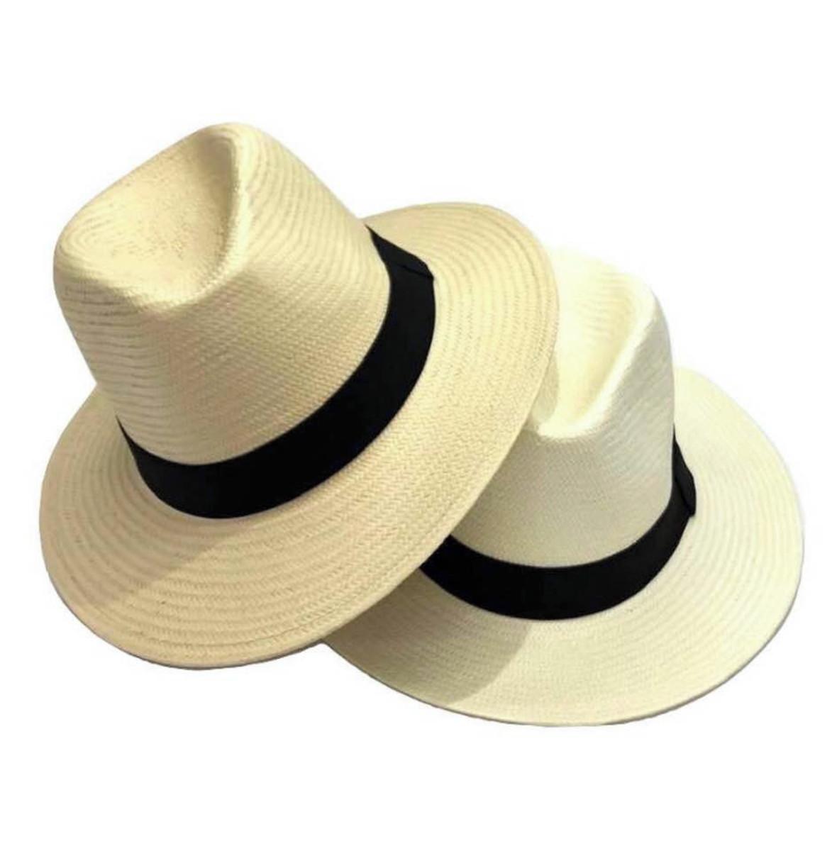 d1c2194e4d215 Chapéu Moda Panamá Aba Larga Masculino Feminino Praia Casual no Elo7 ...