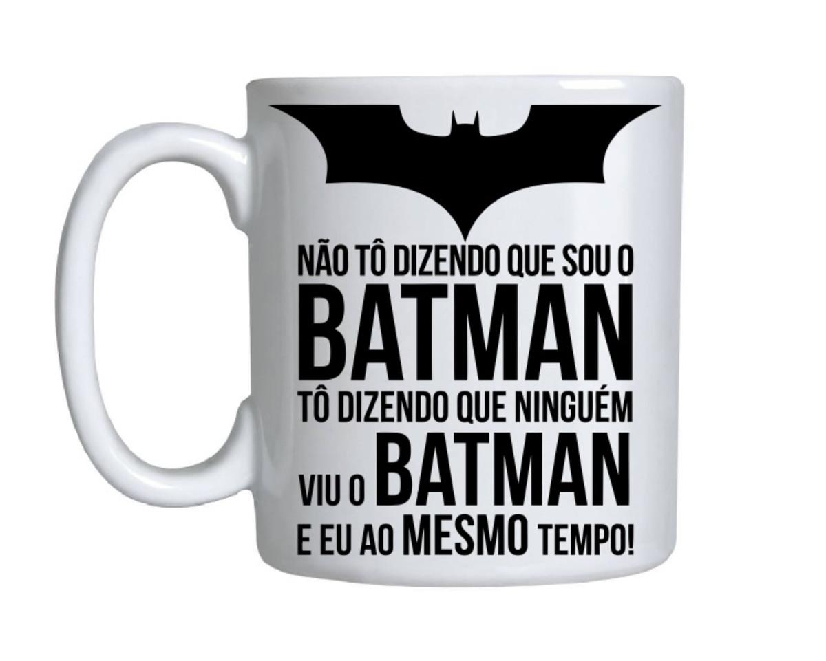 d5f81f50cc3818 Caneca Cilindrica de Porcelana Personalizada Batman Presente