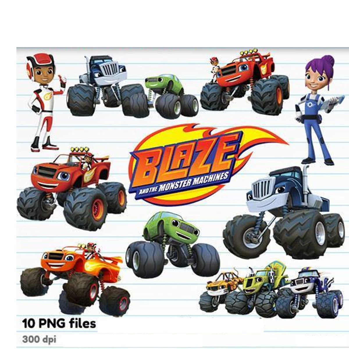 Inspirational Fundo Blaze And The Monster Machines Png