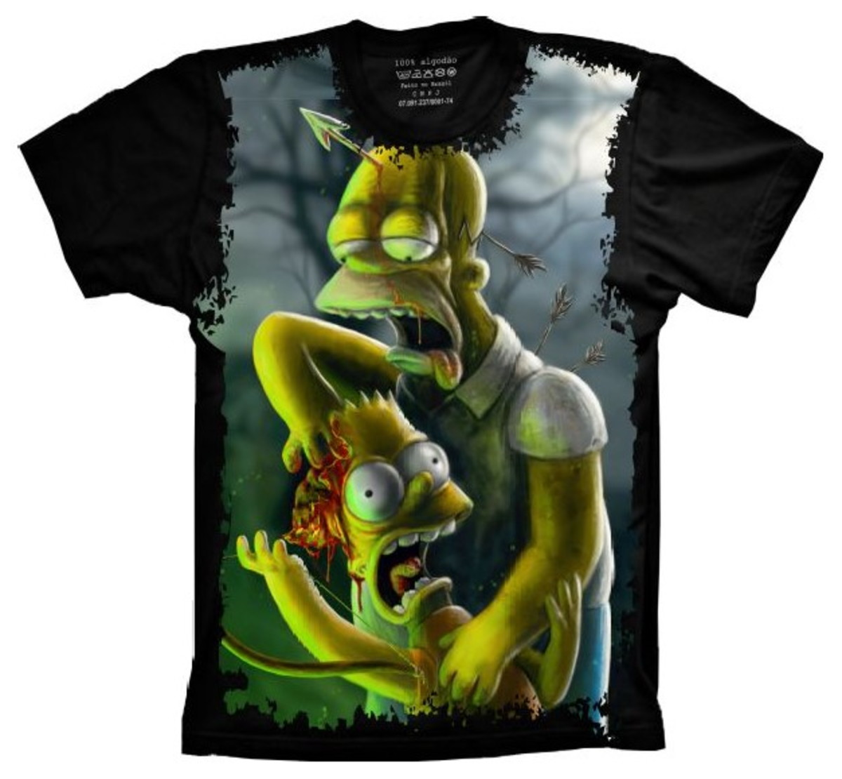 5227ea2ebfb7c Camiseta Simpsons Homer Bart Zumbis no Elo7 | Estampas Criativas ...