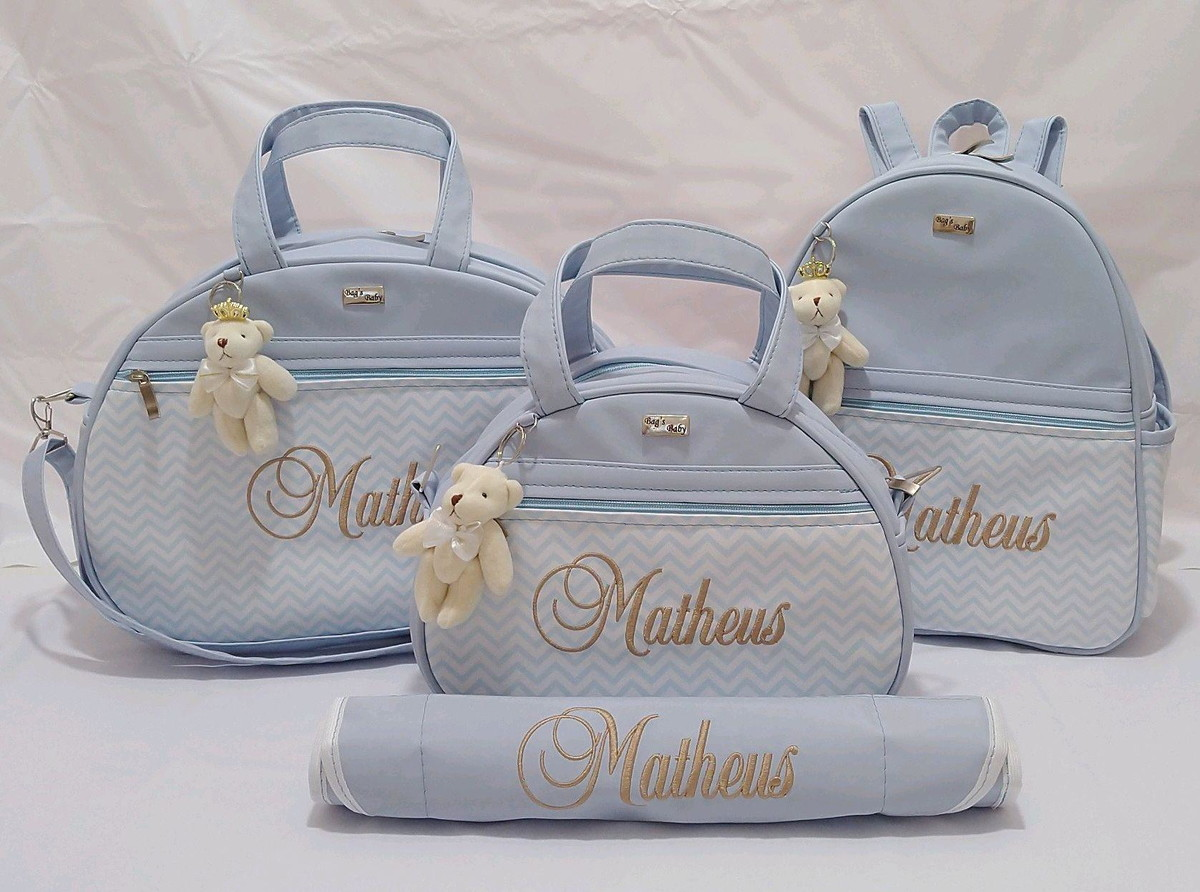 f81617048 Kit Bolsa Mochila bebê Maternidade Personalizado no Elo7 ...