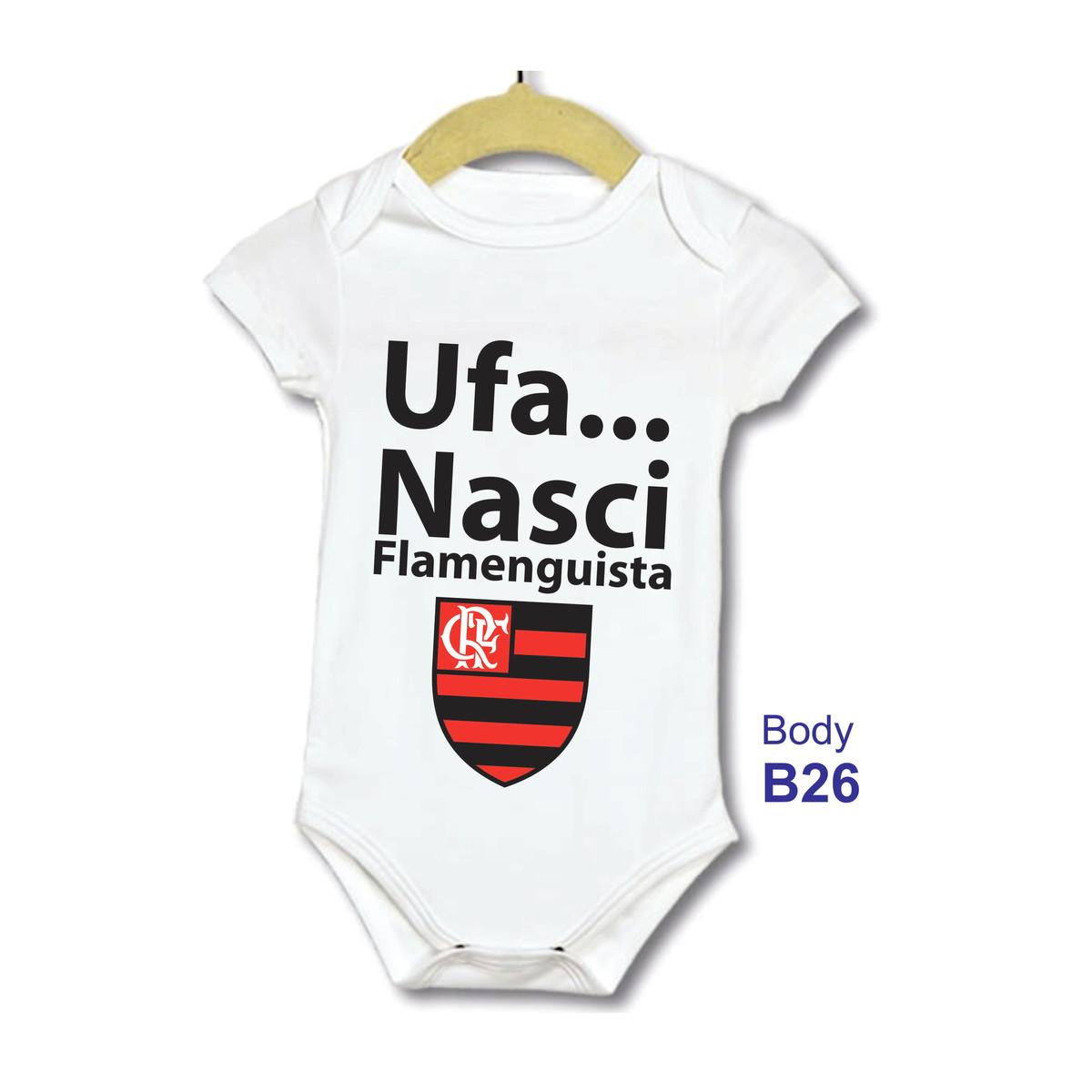 Body Bebe Infantil Frase Ufa Nasci Flamenguista