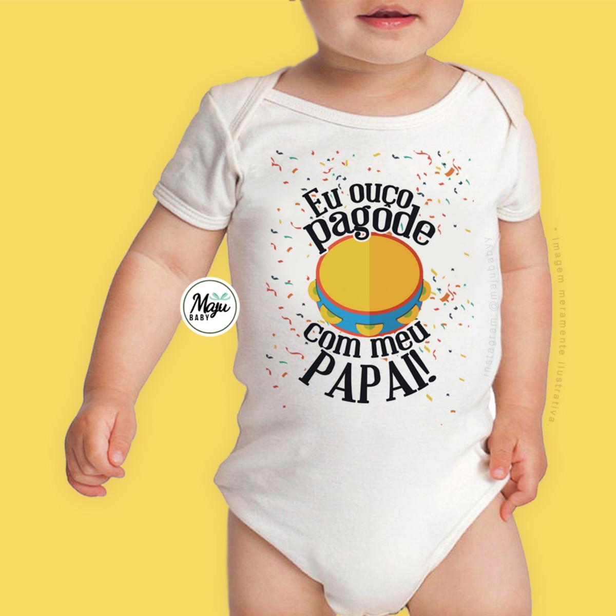 5ec3a0dc6e Body Personalizado Bebê - Dia dos Pais - Pagode no Elo7