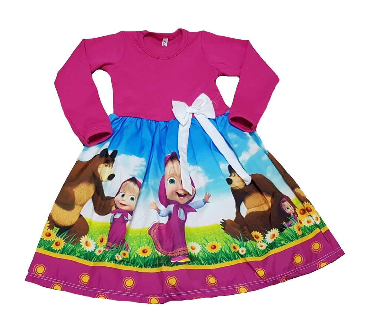 Vestido Masha E O Urso Manga Longa Inverno Tam 1 Ao 8