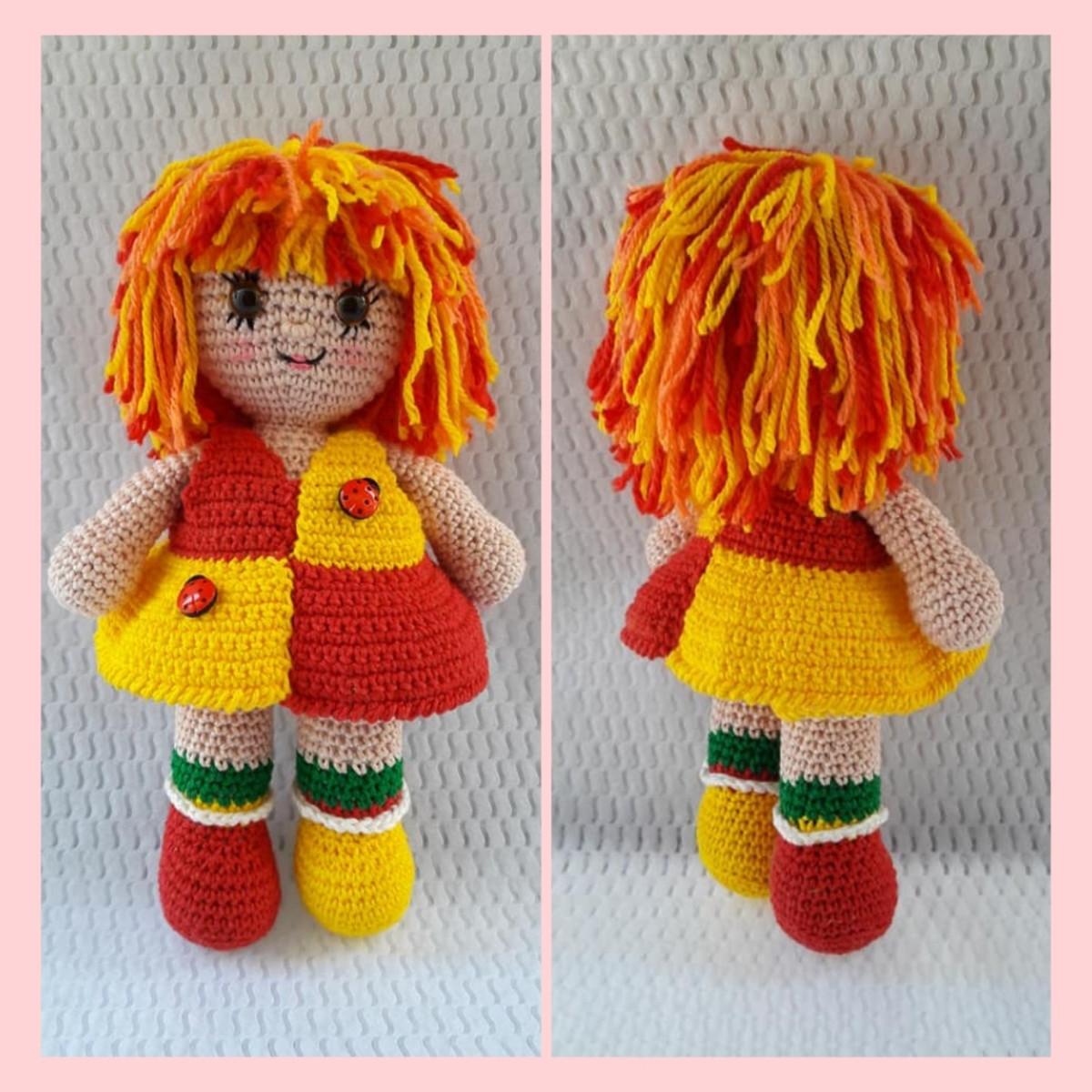 Boneca emilia em amigurumi | Boneca emilia, Bonecas de tricô, Bonecas | 1200x1200