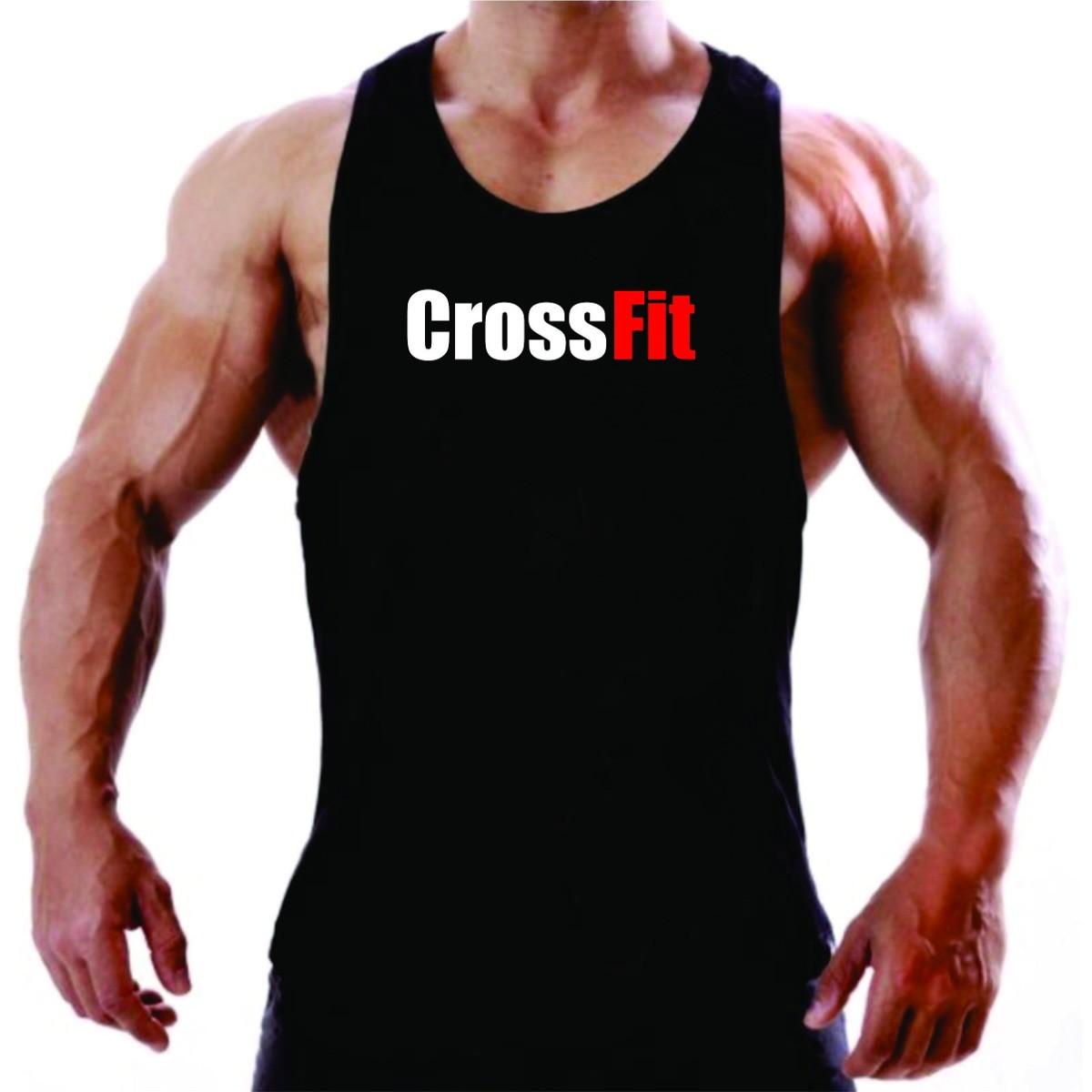 56211584c Camiseta Regata Crossfit Musculação Academia Treino no Elo7