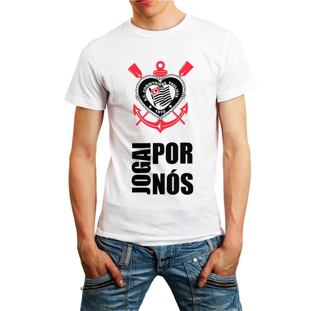 87675b7d63fb4 Camiseta Camisas Coringão Timão Time Futebol Branca no Elo7