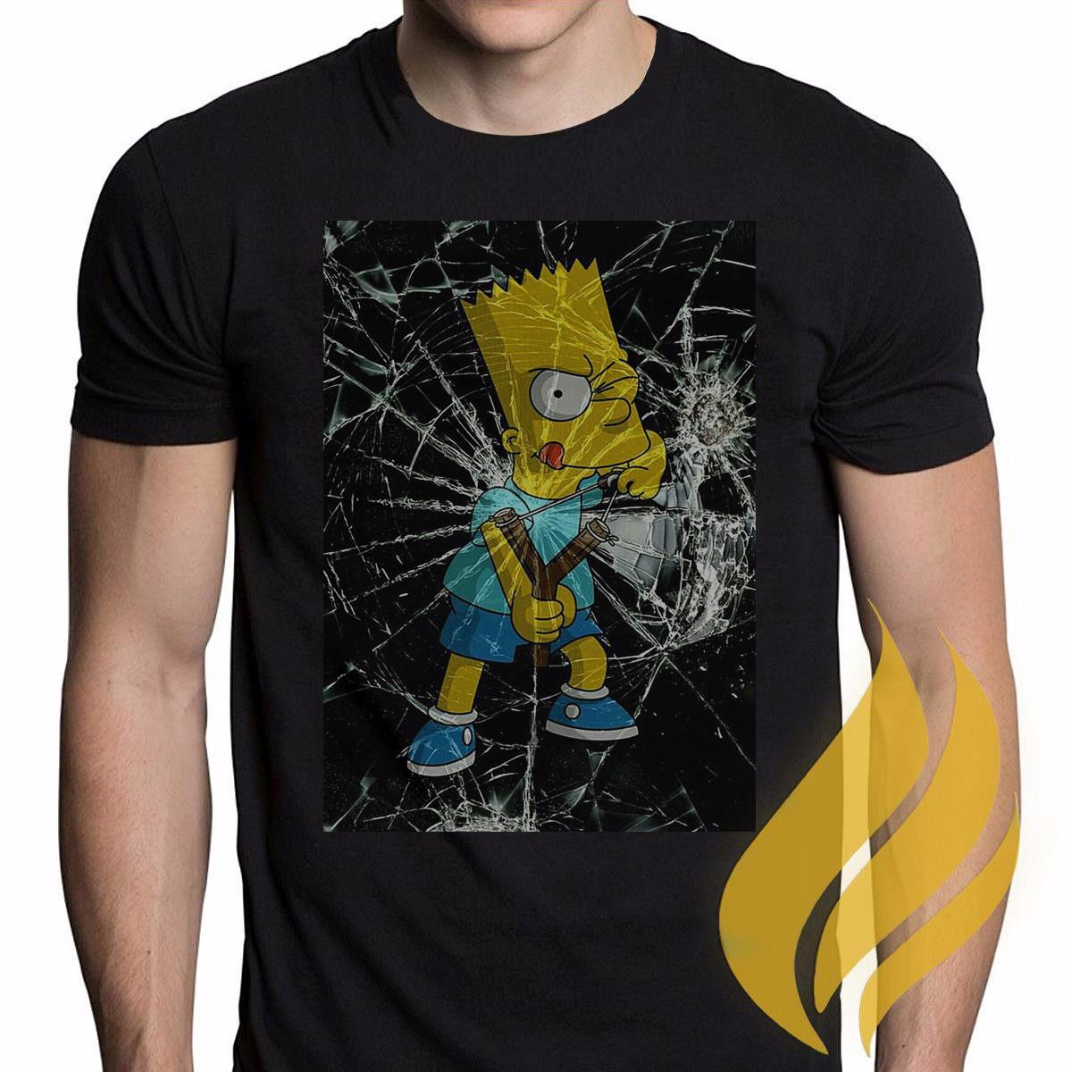 09fdb6326 Camiseta Simpsons Bart Homer M02 Frete Grátis no Elo7