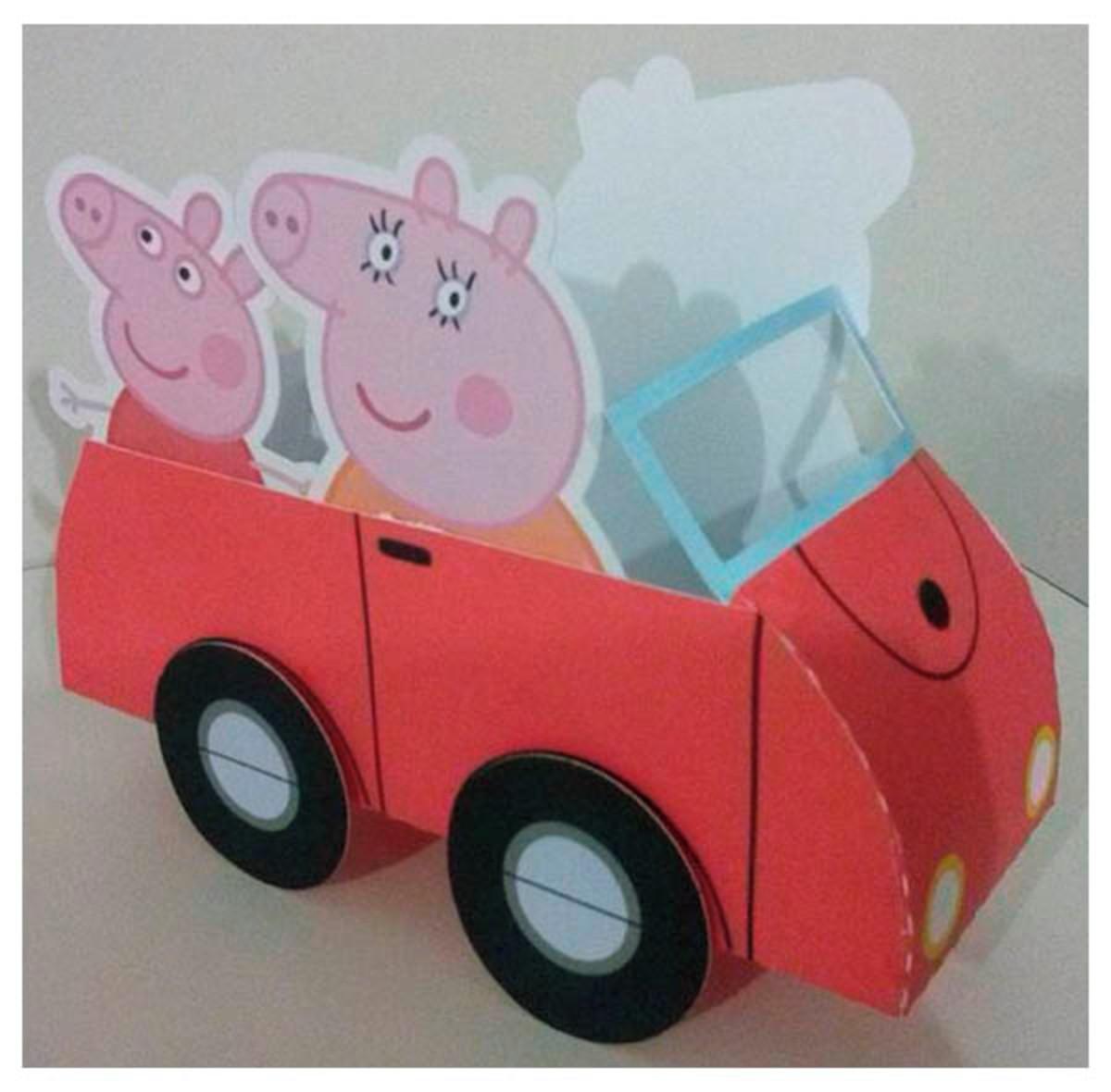 Arquivo De Corte Digital Carro Familia Peppa Pig No Elo7 Atelie