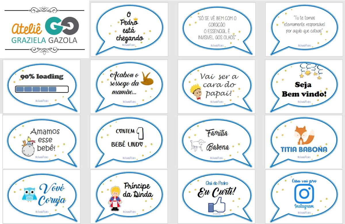 Arte Digital Kit Plaquinha Cha De Bebe Pequeno Principe No Elo7