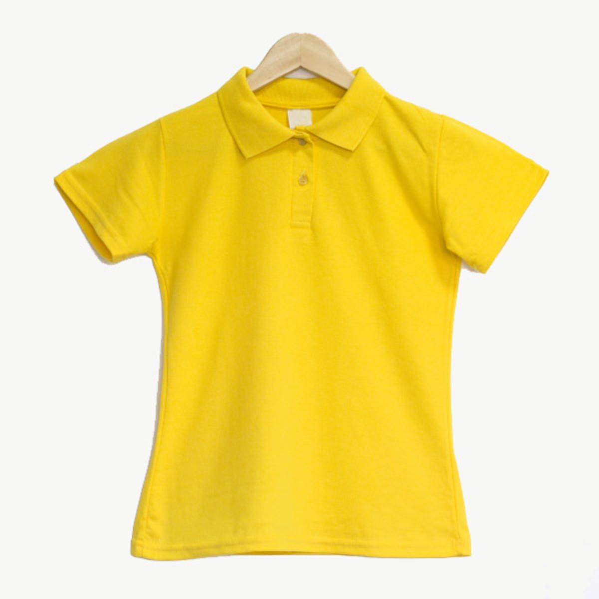 865dc8876c Camiseta Gola Polo Feminino Amarelo no Elo7