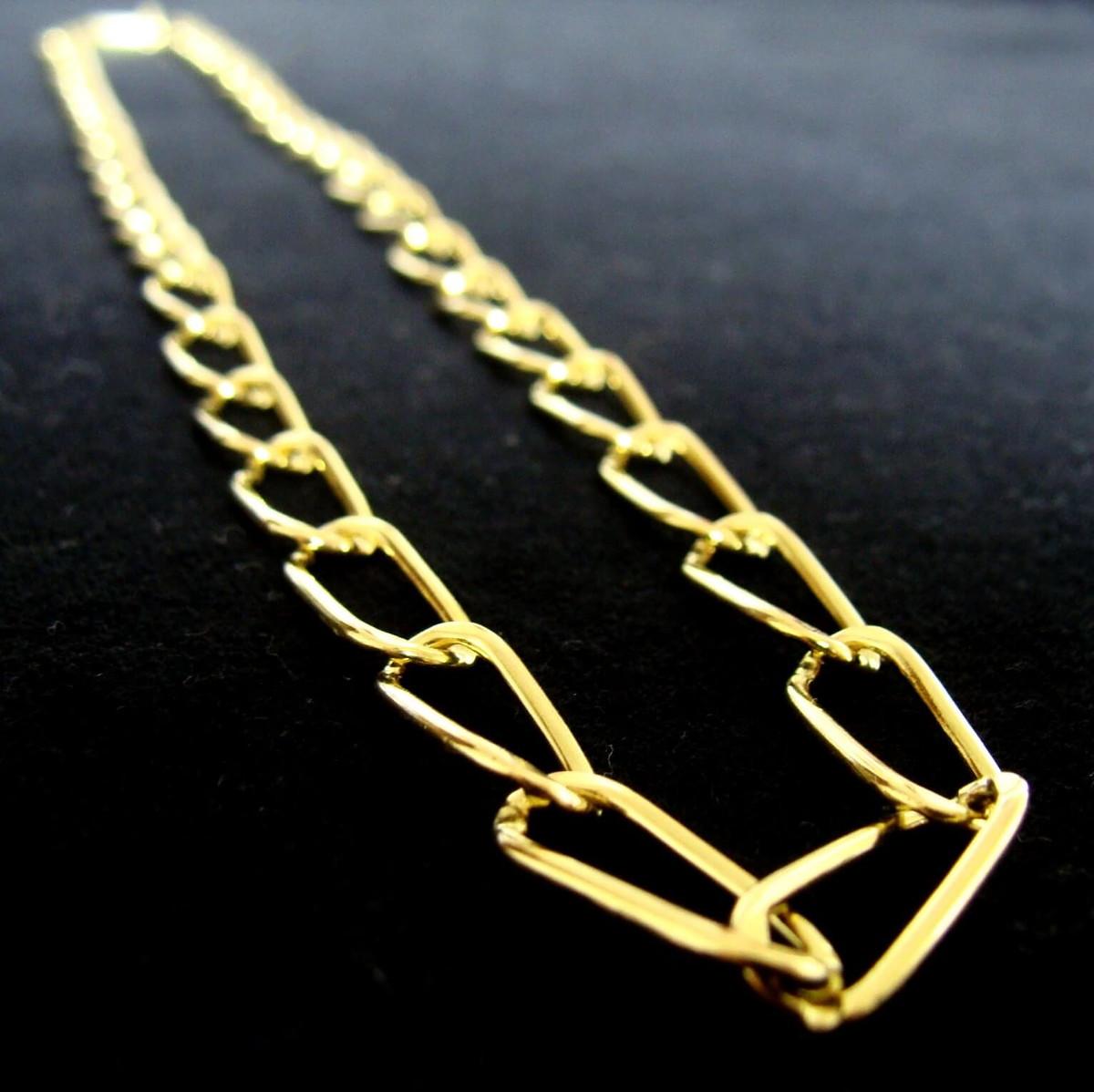 dca2189e8ab18 Corrente de Ouro 18k com 60cm - 18 grs - Frete Grátis no Elo7