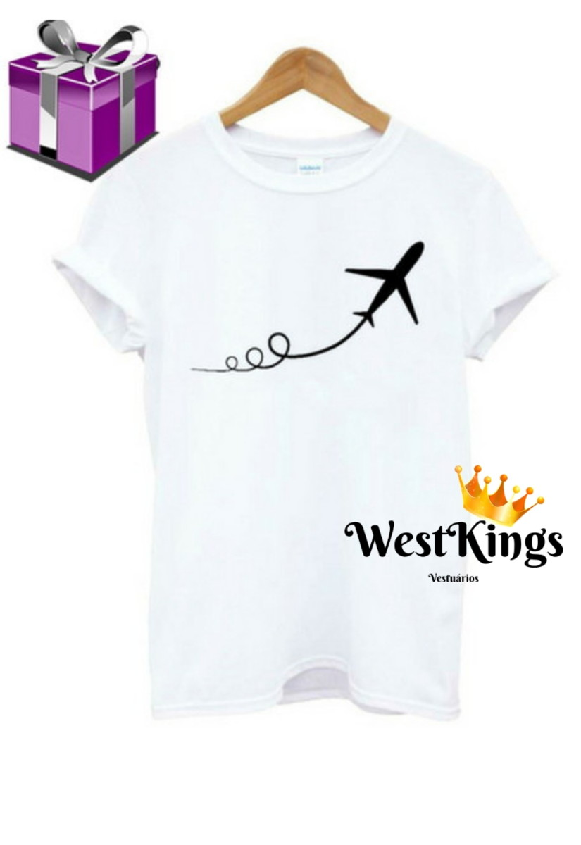 2766b24d6 Camiseta Blogueira T-shirt Youtuber Baby look Avião no Elo7 | West ...