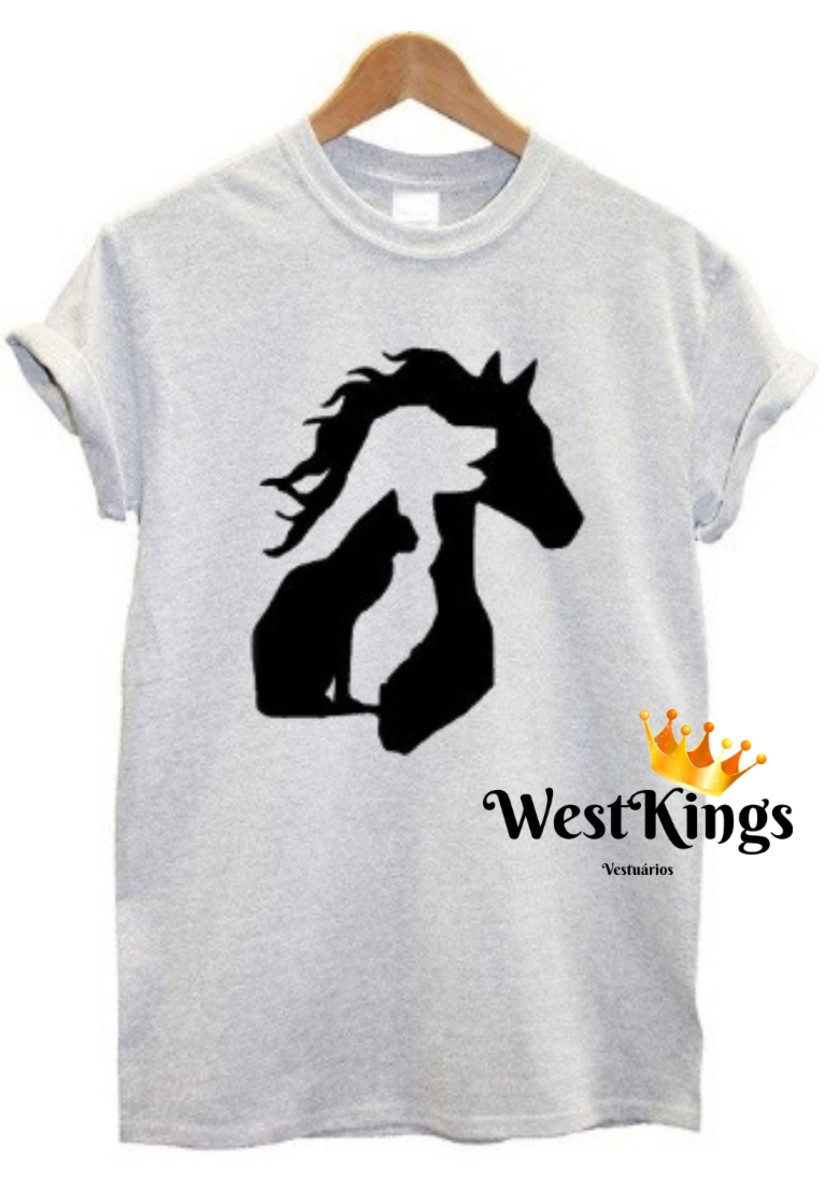 cb2220373 Camiseta Blogueiros Dog Baby look Cavalo T-shirt Gata no Elo7 | West ...