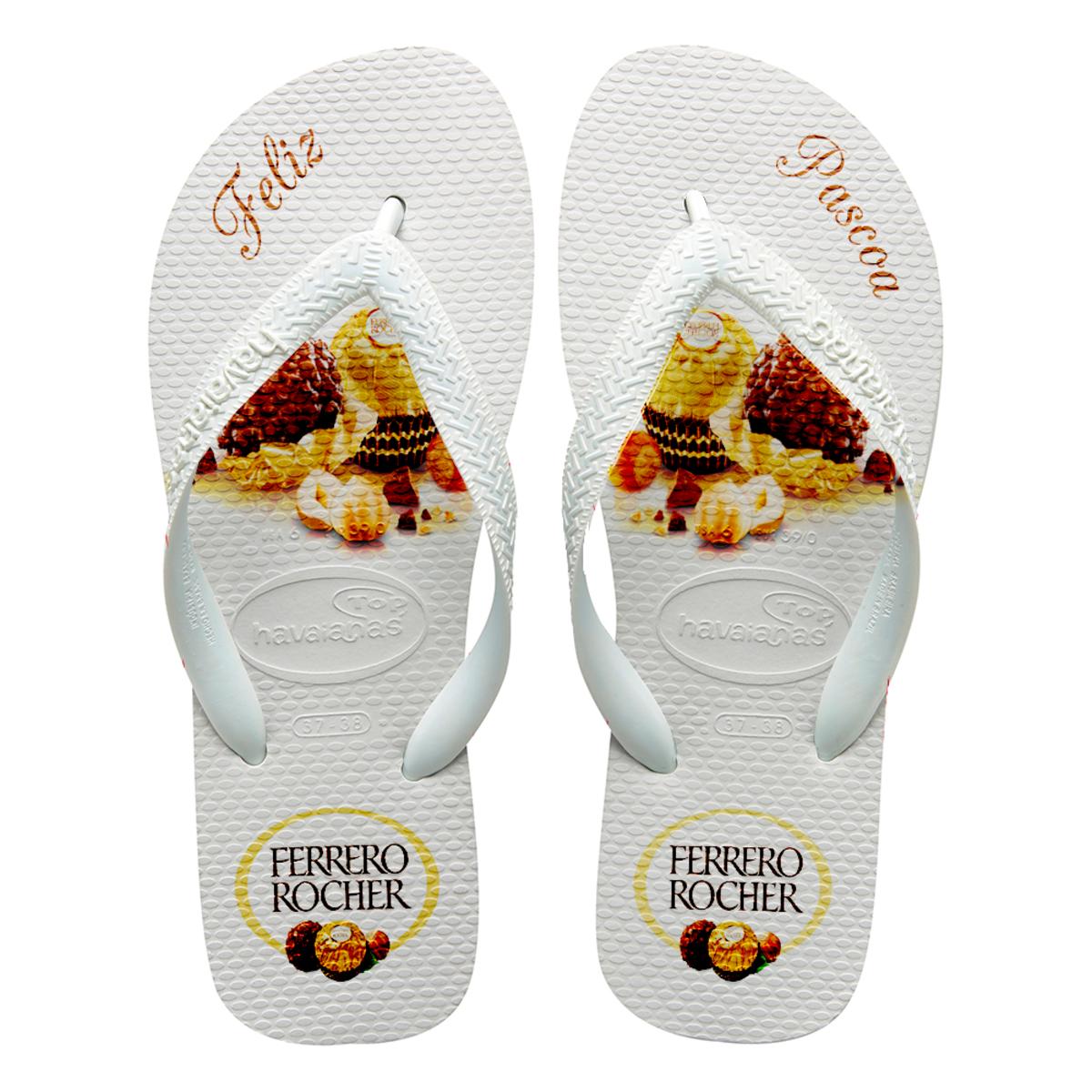 41d2fd235a Chinelos havaianas Personalizados Ferrero Rocher no Elo7