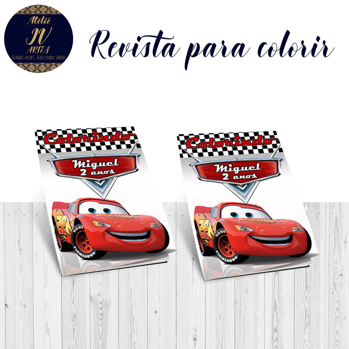 Revista Para Colorir Carros Disney Relampago Mcqueen No Elo7