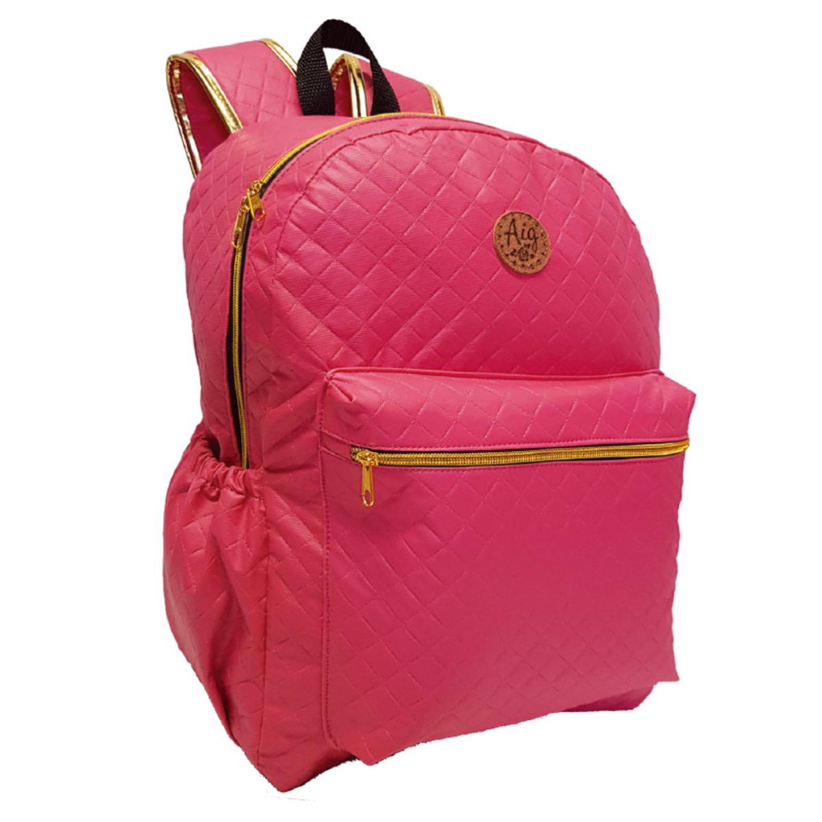9b005ce57 Bolsa Mochila Pink Feminina Alça Escolar Bolsão Matelasse no Elo7 ...