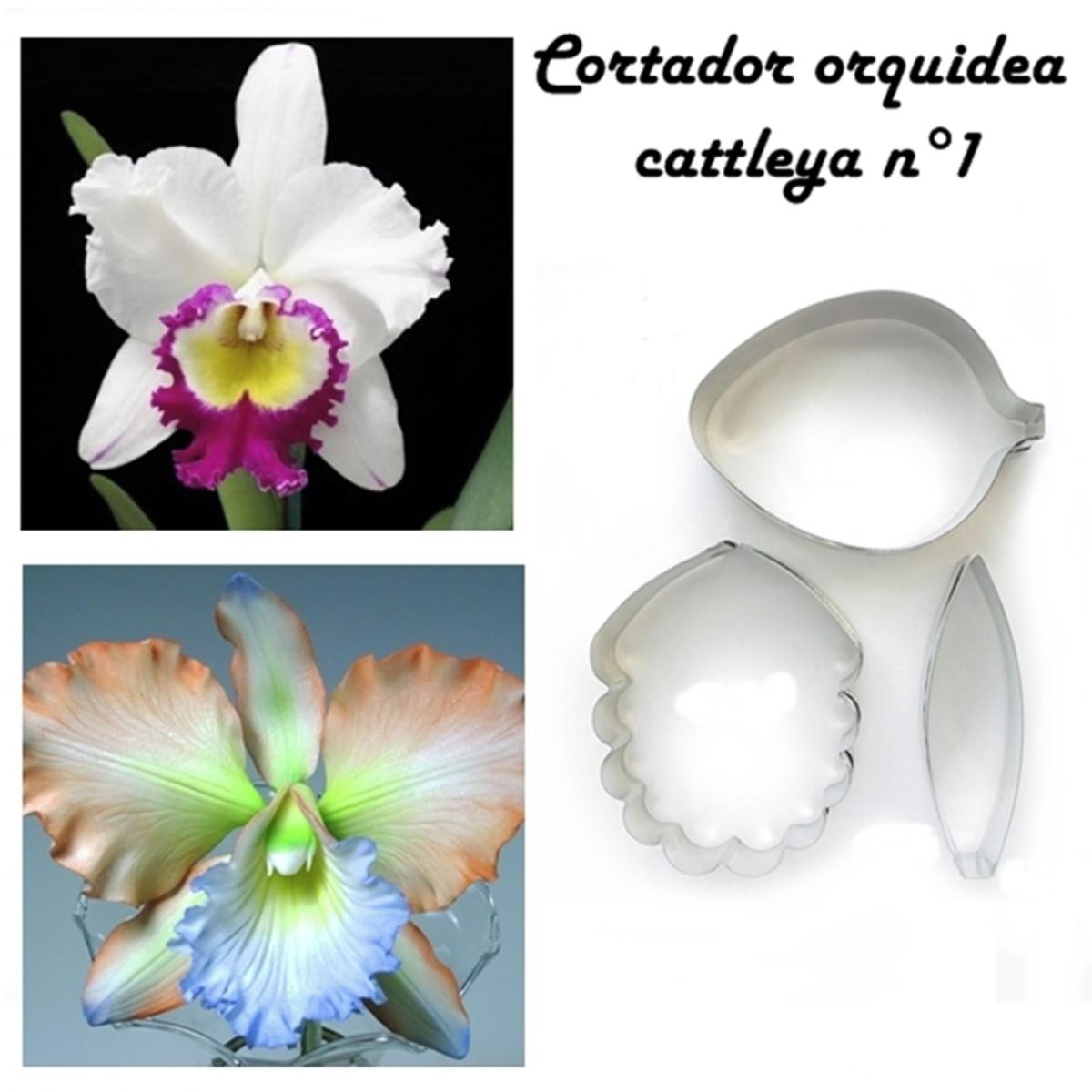 Cortador Orquídea Cattleya N1 Com 3 Pecas