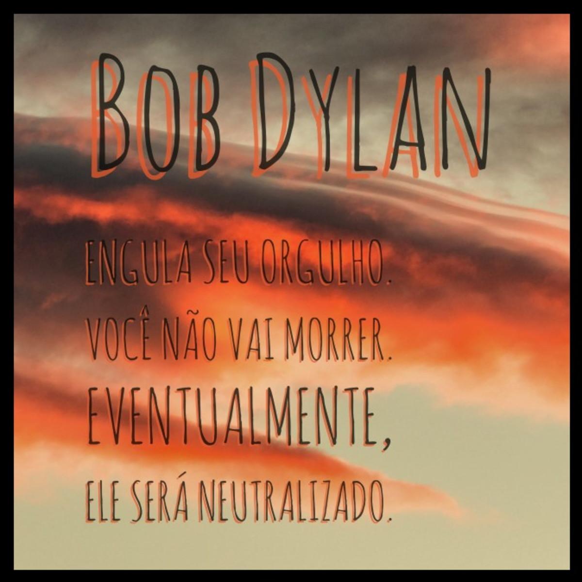 Quadro Orgulho Por Bob Dylan