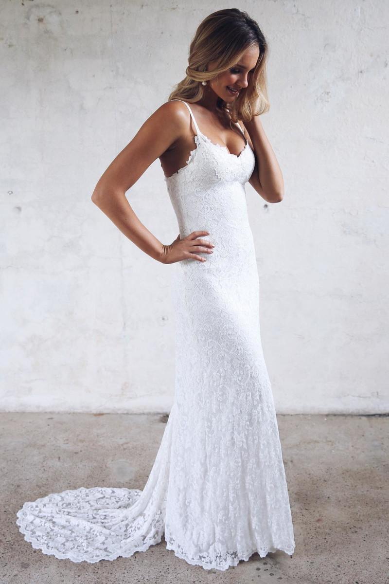 Vestido Noiva Boho Sereia Cauda Renda Nobre Italiana Alcinha