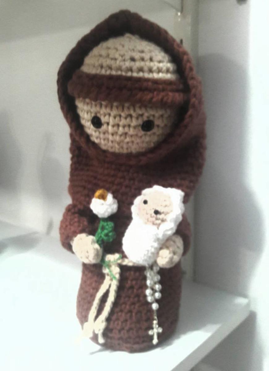 Santo Antônio amigurumi | Amigurumi de animais de crochê, Animais ... | 1200x870
