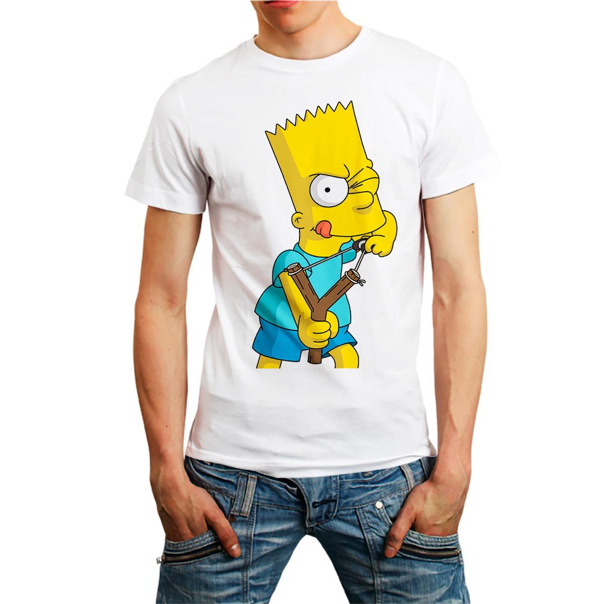 729e3350a29f Camisa Camiseta Bart Simpsons Desenho Personagem Estilingue no Elo7 ...