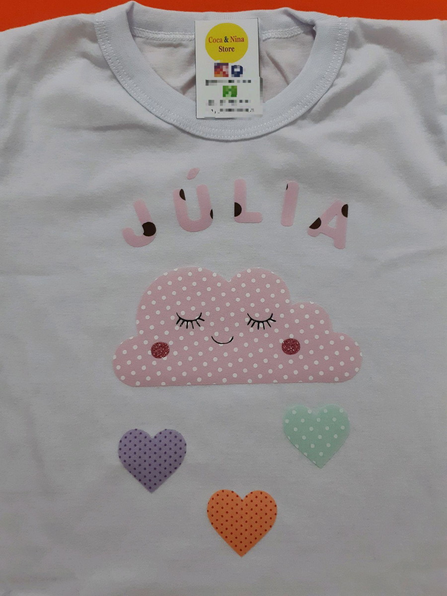 efe786301b Camiseta Adulto Personalizada Chá de bebê Nuvem de Amor no Elo7 ...