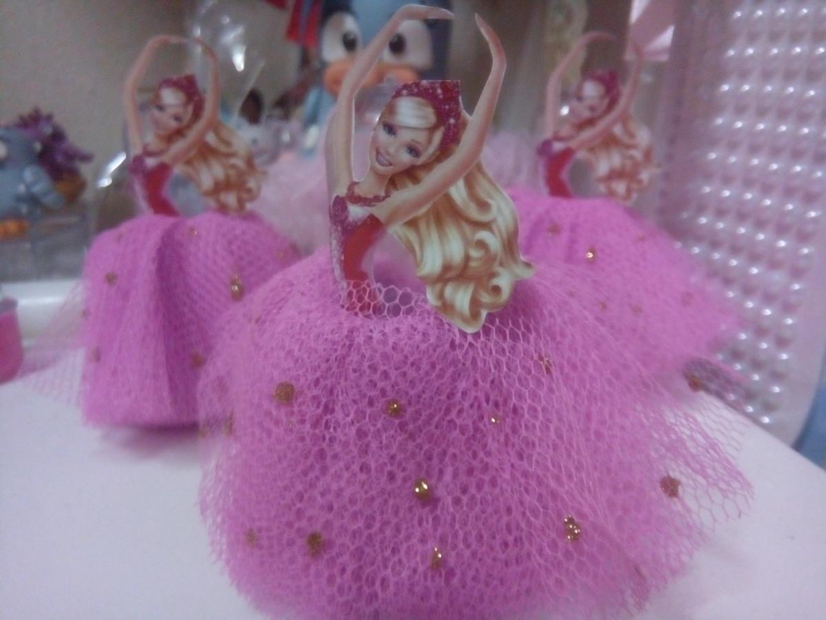 a84a3a67a2 Tubete Barbie Bailarina no Elo7