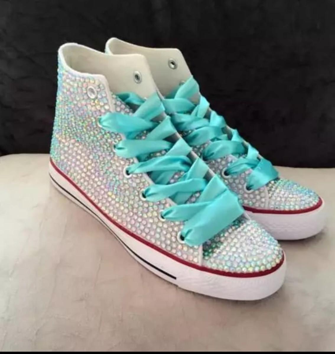086e3996215 bota tenis personalizado com cristais todas as cores no Elo7 ...
