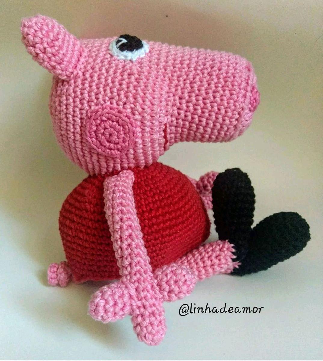 Peppa Pig Amigurumi : crochet | 1200x1074