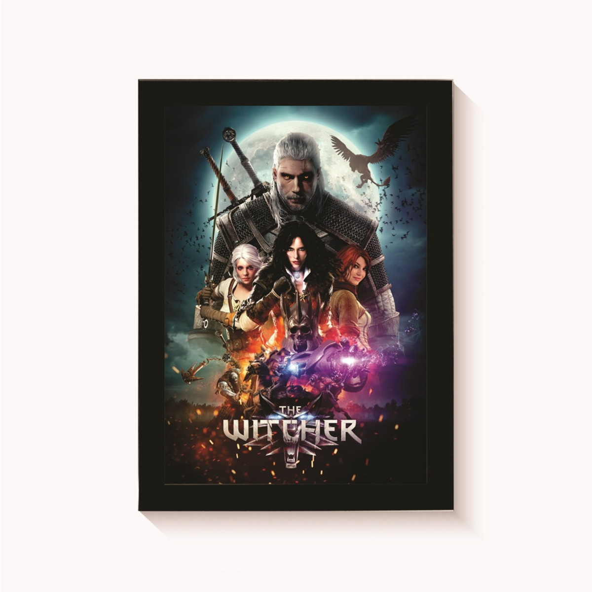 Quadro The Witcher Games Decoracao Casa Moldura 30x20cm No Elo7