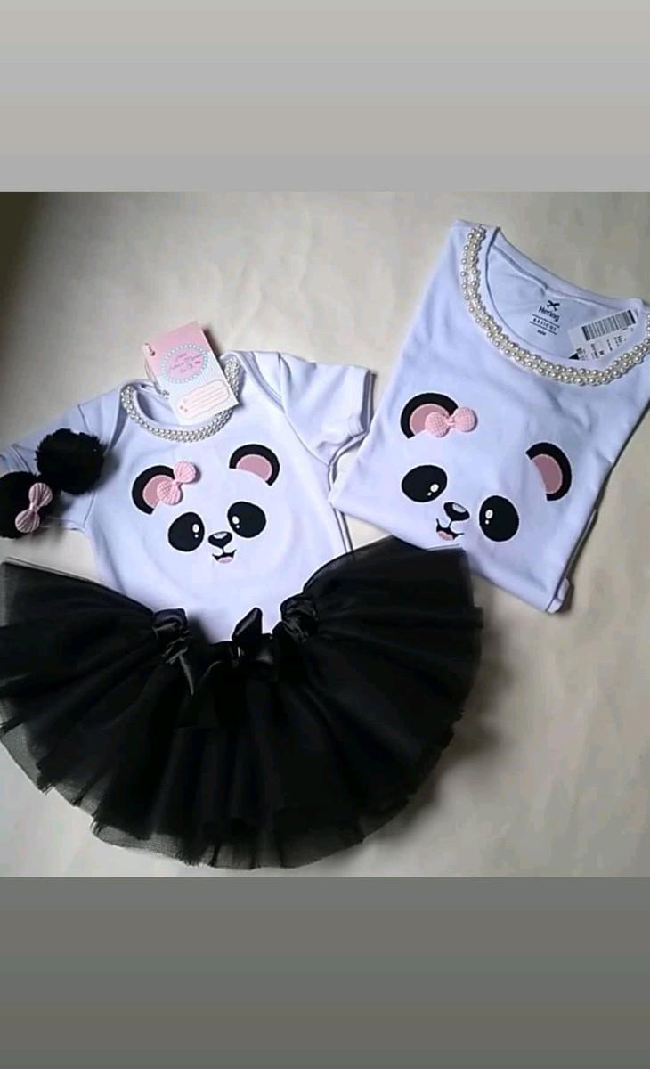 Fantasia Infantil Tutu Mesversario Panda Baby Blusa Mamae No Elo7 Atelie Artes E Mimos Da Sil Ef167b
