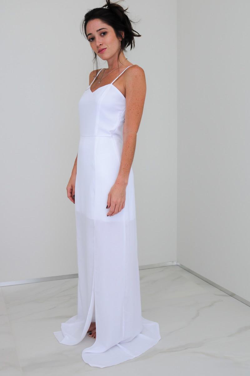 efa3ac9df Vestido Longo Crepe Laura no Elo7 | Lulu Seda (EF217D)