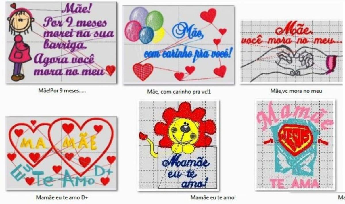 Matriz Bordado Dia Das Mães Frases 2