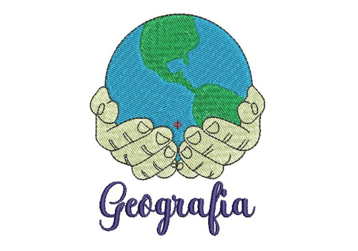 Matriz de bordado - Geografia 001 no Elo7 | Arte de Bordar ...