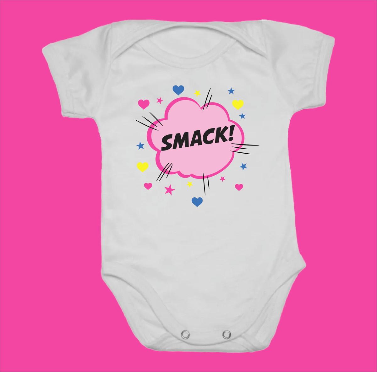 dffca23c2 Body estampado para bebê Smack no Elo7