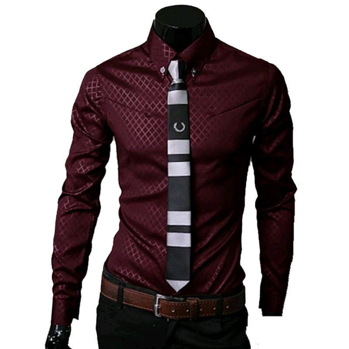87c9656e753 Camisa Social Slim Masculino no Elo7