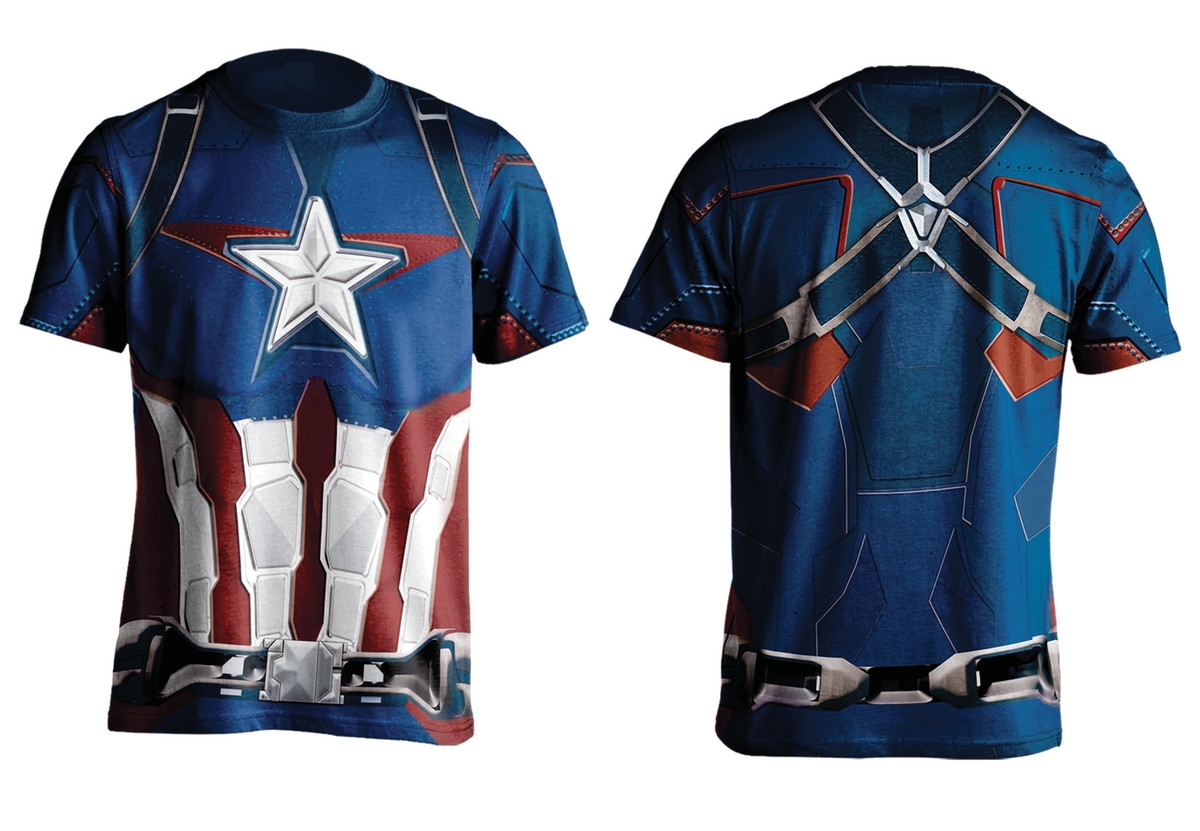 41db3f2579 Camiseta Capitão América Slim Fit no Elo7