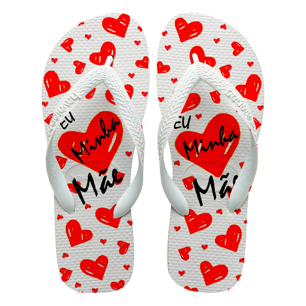 8c01d1351a Chinelos havaianas personalizados dias das Mães no Elo7