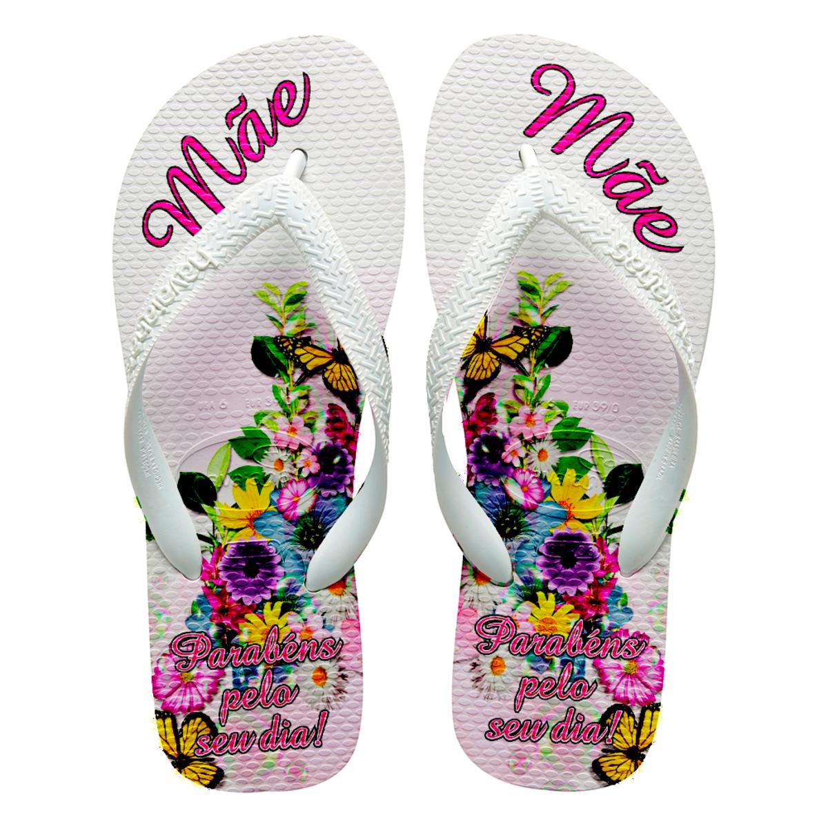e209c33beb Chinelos Havaianas personalizados dias das Mães corações no Elo7 ...