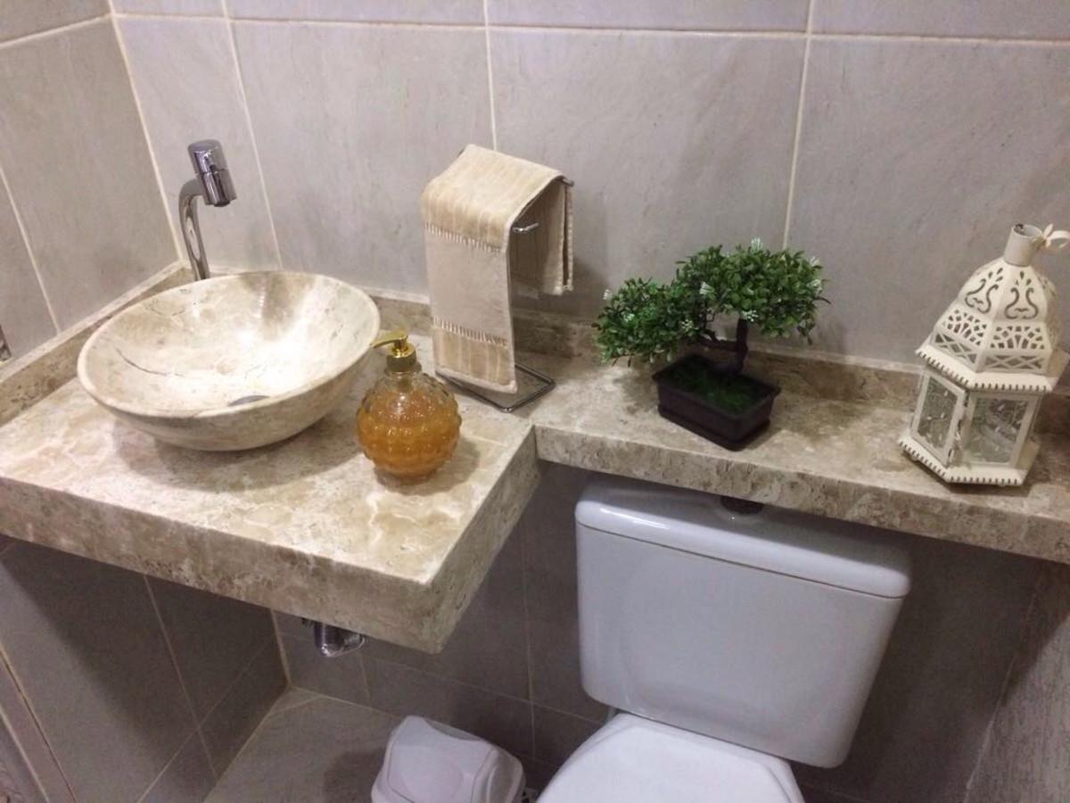 Cuba Esculpida Banheiro Marmore Bege Bahia Travertino 34cm No Elo7 Casa Design Ef7225