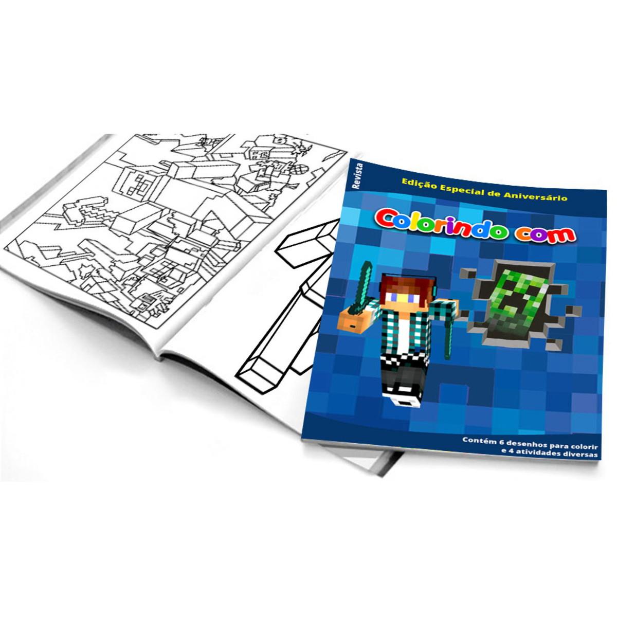 5 Cadernos De Colorir Authentic Games Minecraft No Elo7 Belas